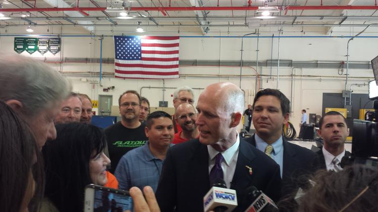 Gov. Rick Scott previously spoke about the importance of manufacturing Northrop Grumman's St. Augustine facilities.