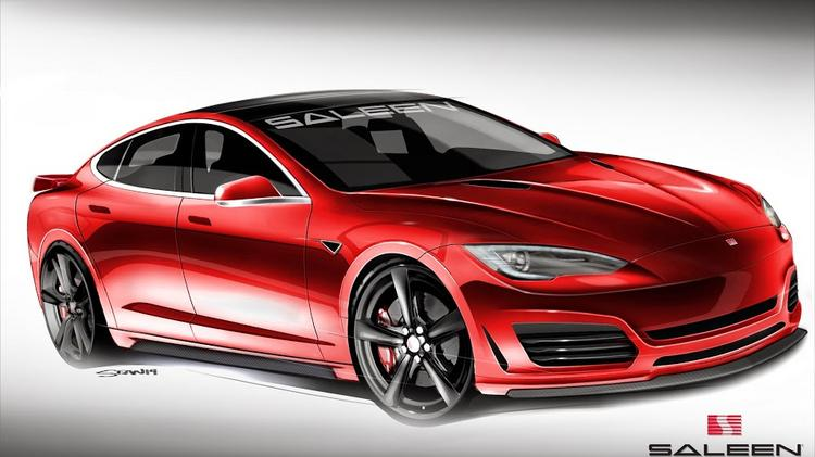 Part of the Saleen treatment for the Model S means bigger wheels.