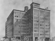An artist's conception of the historic Ridenour-Baker Grocery Co. building.