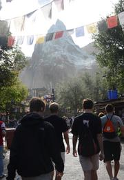 Guests make their way to form yet another line at Expedition Everest.