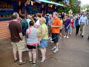 Collectors and souvenir hunters formed the next line at the Creature Comforts shop for exclusive 15th anniversary merchandise.