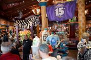 Inside Creature Comforts, special merchandise tables were set up.