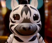 One-of-a-kind, custom painted Vinylmation figures were on exhibit and for sale as well.