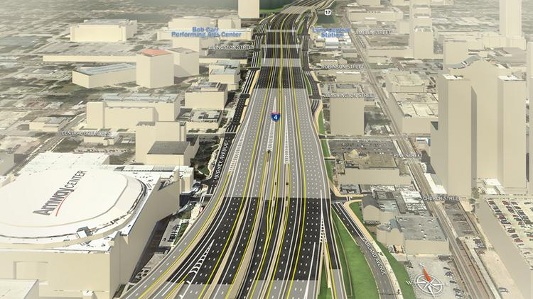 Rendering of the I-4 makeover in downtown Orlando.