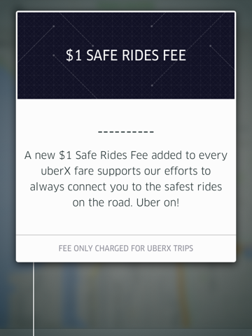 """UberX has added a $1 """"safe rides fee"""" to all fares, likely in response to accusations that drivers who use the service are not properly insured."""