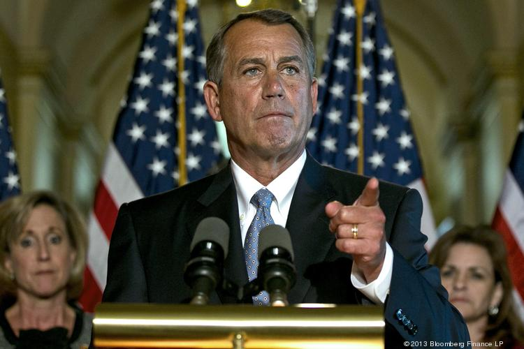 """House Speaker John Boehner, R-Ohio, accused some conservative groups """"of using the American people for their own goals."""""""