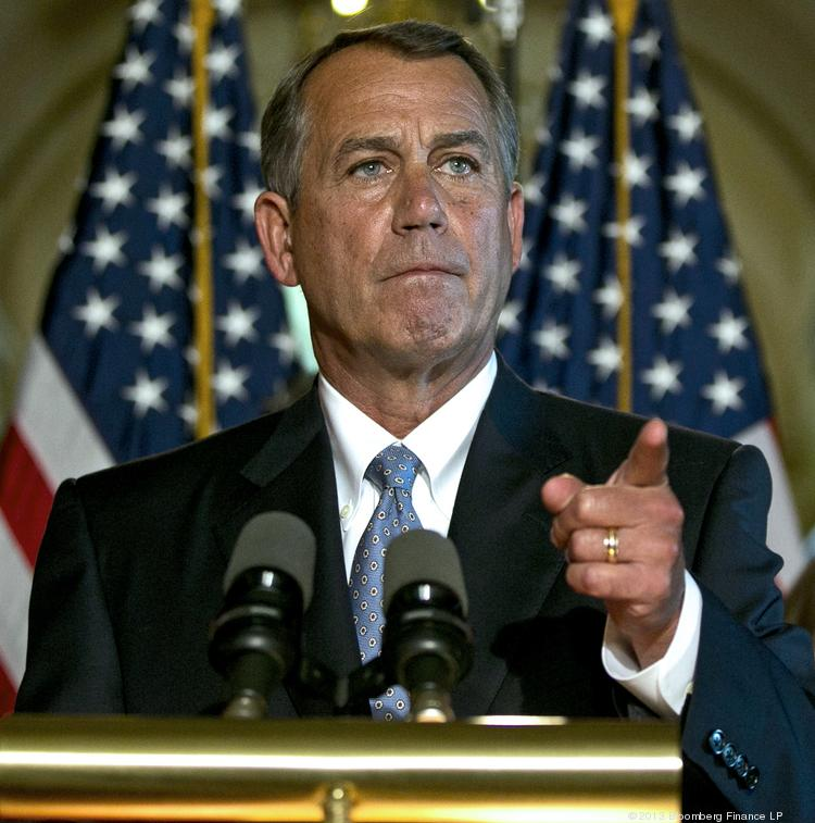 """House Speaker John Boehner, R-Ohio, said the Senate needs to """"get off their ass"""" and pass a sequestration alternative before the House takes it up again."""