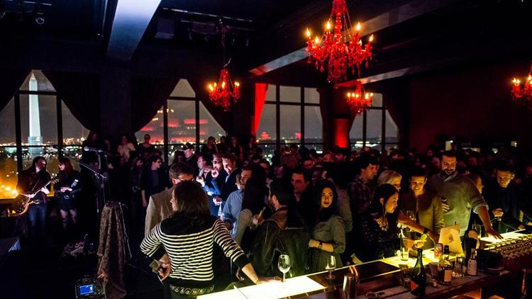 A crowd gathered for a recent show at the POV lounge on the rooftop of the W Hotel in downtown D.C. Brightest Young Things' Svetlana Legetic will now be in charge of music bookings at the hotel.
