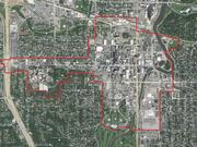 This map shows the tentative boundaries of the Destination Medical Center economic development district in Rochester.