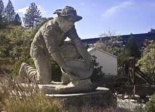 The Auburn Miner, a longtime city landmark of Auburn, California, an old gold rush city.