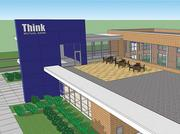 Think Mutual Bank's new Edina branch will have a second-floor community room with a rooftop terrace.
