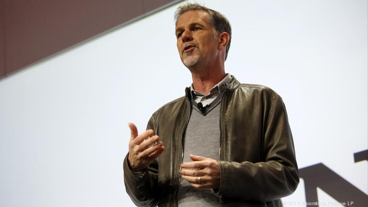 Reed Hastings, chairman, president and chief executive officer of Netflix Inc.