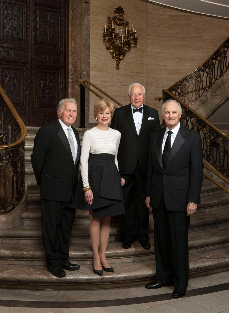 From left: actor-activist Martin Sheen, broadcast journalist Jane Pauley, author David McCullough and actor Alan Alda. PNC is trustee and administrator of the Common Wealth Awards.