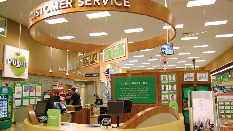 The customer service desk at the new Publix in Matthews.