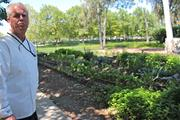 eBay Executive Chef Bob Clark of Bon Appetit Management talks about ingredients like rosemary, leeks and basil that he grows at the company's North San Jose campus. He is currently helping set up additional plots for employees to grow their own veggies.