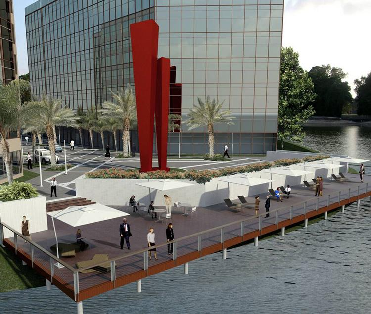 Artist rendering of new pedestrian-friendly waterfront improvements at Tampa Bay Park.