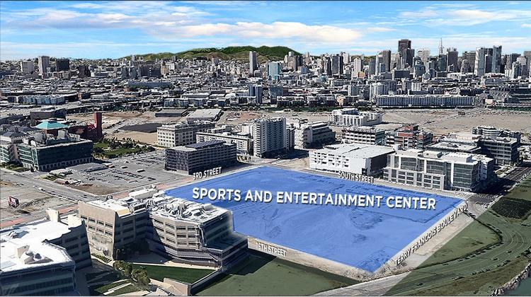 The Warriors abandoned plans to build an arena on Piers 30-32 in San Francisco, choosing instead to focus on this plot the club will buy from Salesforce in the Mission Bay neighborhood.