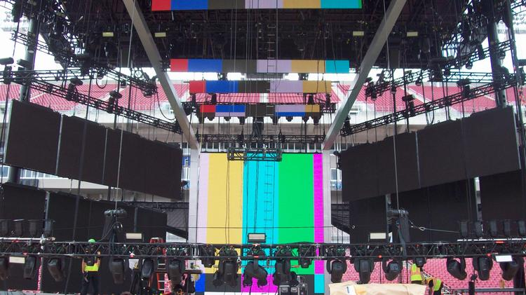 A west-facing view of the IIFA stage. IIFA Director Viraf Sakari said the location provides the best views to the greatest number of attendees.