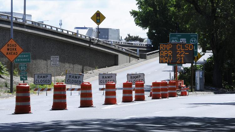 Closed freeway onramps will continue to be the norm along Highway 50 and X Street in coming weeks.