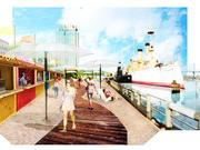 A rendering of the Boardwalk at the Spruce Street Harbor Park.