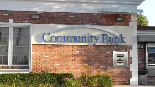 Community Bank of Broward has reached $497 million in assets.