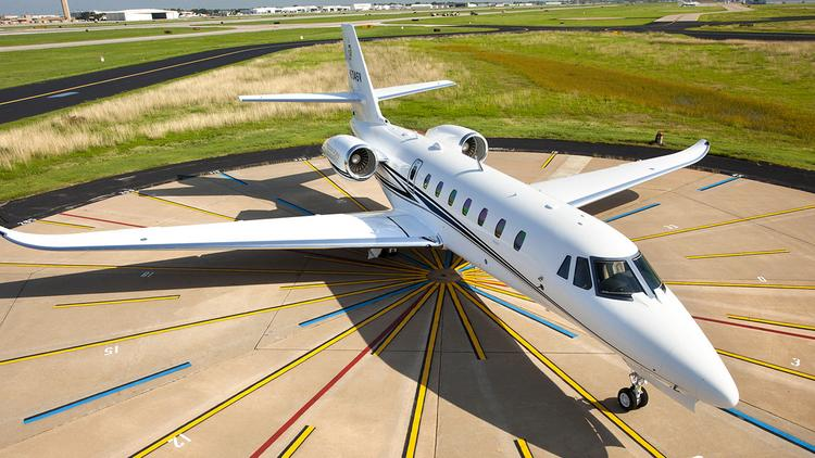 Cessna posted a slight increase for the first quarter in Citation business jet deliveries.