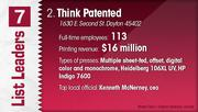 Think Patented is the No. 2 printing company.