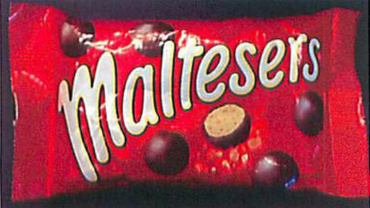 The package for Mars' Maltesers, according to an image contained in Mars' suit against Hershey's
