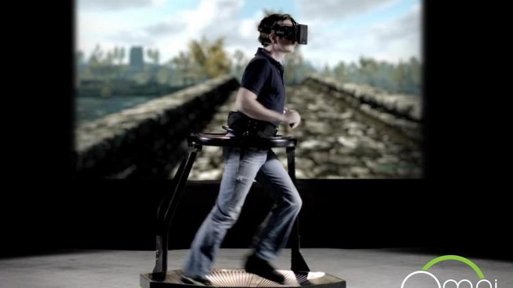 Virtuix's Omni allows gamers to move freely in a virtual environment.