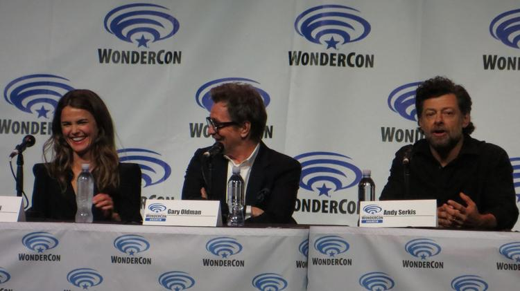 "Fox cranked up the star power at WonderCon for ""Dawn of the Planet of the Apes,"" bringing out stars Keri Russell, Gary Oldman and Andy Serkis."