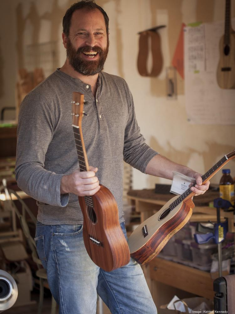 """""""The better I've gotten at making these, the more difficult it's been,"""" says chad Copher, who makes ukuleles as a hobby."""