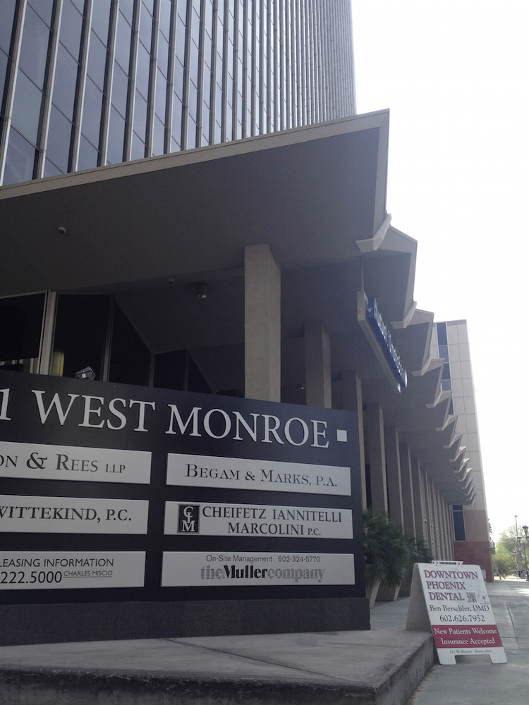 A Phoenix group paid $22 million last week to purchase this half-empty, lender-owned office high rise in the heart of downtown Phoenix, the One 11 Monroe building.