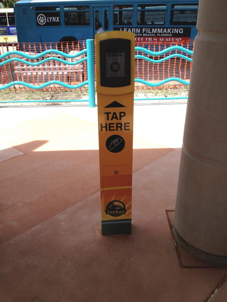 Riders of SunRail should be familiar with the method of tapping on and tapping off.