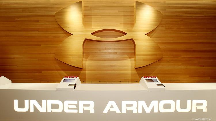 Shares of Under Armour took a dive in trading on Thursday. Above, the check out counter of the company's recently opened New York store.