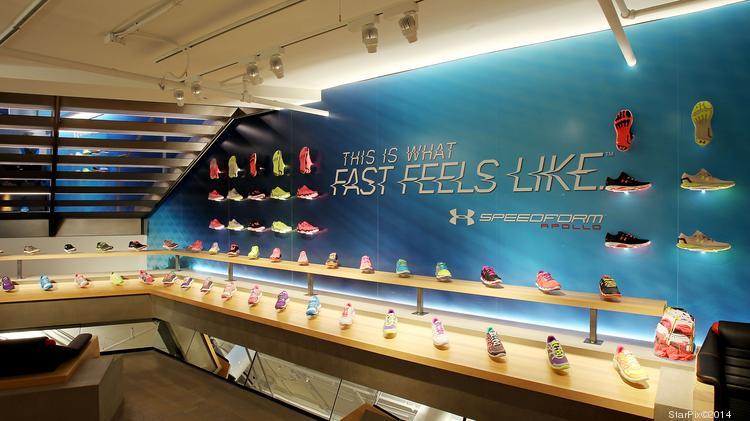 Running shoes are a major focus for Under Armour.