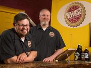 At Walnut River Brewing in El Dorado, co-owners BJ Hunt and Rick Goehring are expanding production capacity to meet demand. The two-year-old commercial craft brewery regularly produces five varieties.