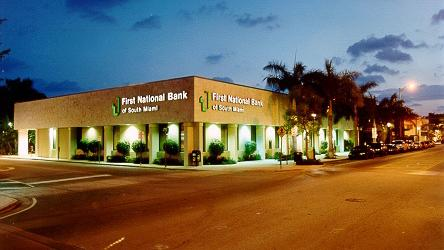 First National Bank of South Miami has expanded its lending after raising capital in 2013 and 2014.