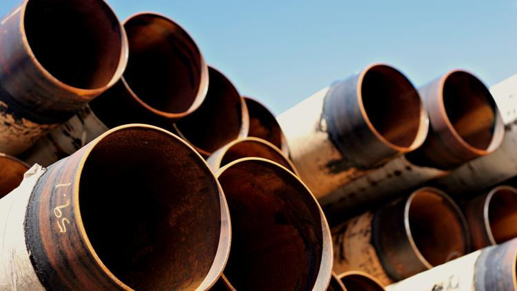Materials awaiting use for a pipeline project. Koch Pipeline Co. says it's developing another South Texas pipeline to carry Eagle Ford Shale crude.