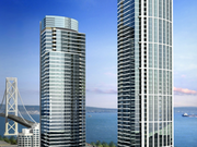 The developers behind One Rincon Hill are adding phase two (left) to the existing phase one (right).