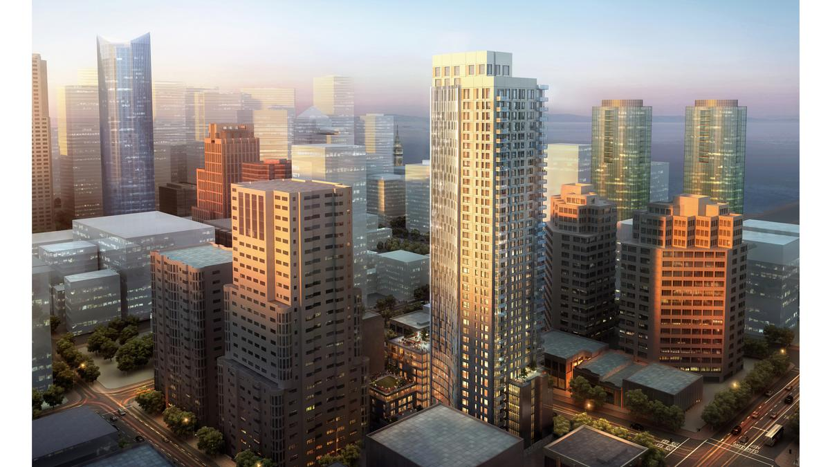 340 Fremont joins cluster of luxury highrise housing under construction in San Francisco - San Francisco Business Times