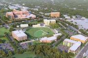 An artist's rendering of Saint Agnes' proposed project on the site of the former Cardinal Gibbons High School.