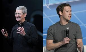 Tim Cook (left) and Mark Zuckerberg (right) fared well on Wall Street this week.