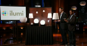 Corey Egan and Swampnil Bora, cofounders of Ilumi, present to investors on ABC's Shark Tank.