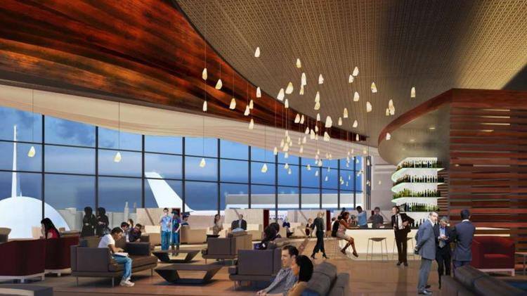 All Aboard Florida is envisioning its Orlando International Airport waiting area to be similar to airline club rooms at airports. For example, here's one at another airport.