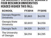 In-state tuition per semester at the University System of Georgia's four research universities headed higher this fall: