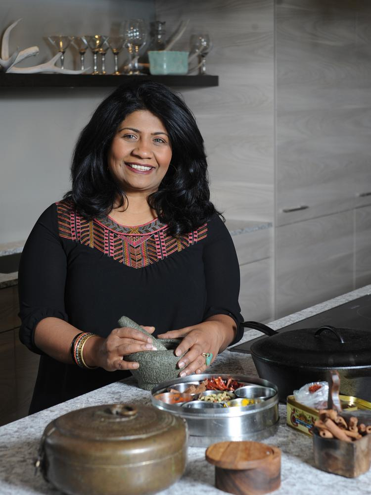 "Chef Asha Gomez says her version of Indian food, served at Cardamom Hill and Spice to Table, is a ""symphony of spices on your palate,"" but not necessarily heat. She enjoys researching historic dishes."