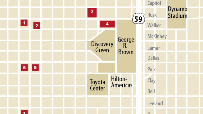 There are at least eight hotels planned or underway in downtown Houston, and all of them are rushing to get built before the Super Bowl comes to town.