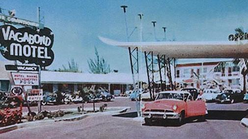 Photo taken in the 50s of the iconic Vagabond Motel.