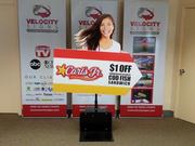 With a few minutes of national exposure on ABC's Shark Tank earlier this month, Sacramento's Velocity Signs has seen orders spike for its product. Velocity makes portable and rechargeable sign-waving machines which can be paired with mannequins or arrows.
