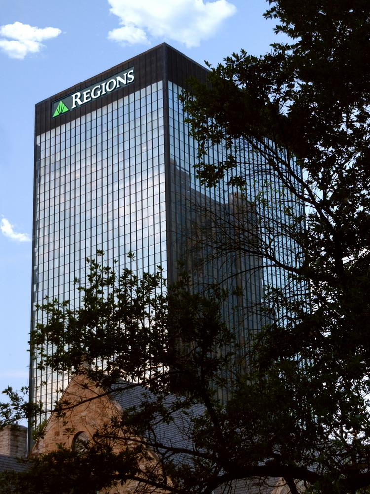 Birmingham-based Regions Financial moved up in the Barron's 500 rankings of the top public companies by sales.